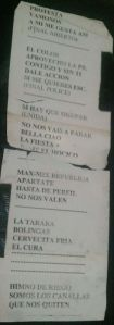 Canallas Setlist
