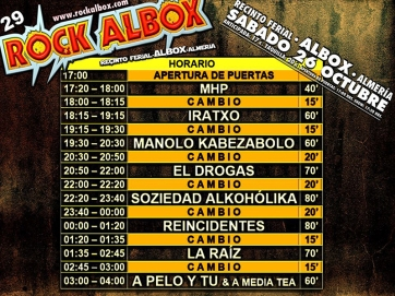 Rock Albox horarios